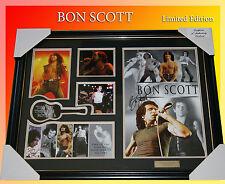 NEW!!! BON SCOTT MUSIC MEMORABILIA SIGNED FRAME LIMITED EDITION TO 499 w/ C.O.A