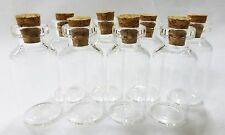 """mini bottles with cork top 8 Nsstar small glass 1.5"""" charms favors weddings"""