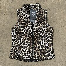 NWT Lands End 600 Down Cheetah Print Vest Jacket Size Small