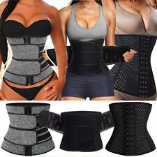 Women Sauna Sweat Waist Trainer Belt Body Shapers Tummy Slimmer Control Girdle