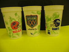 NFL-SUPER BOWL XXV-25 LOGO & NY GIANTS -BUFFALO BILLS DUELING HELMIT BEER CUP
