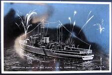 BRITISH ROYAL NAVY~1946 CORONATION REVIEW OF THE FLEET~H.M.S. SURPRISE ~ RPPC