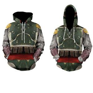 2021 Star Wars The Mandalorian Hoodie Jacket Sweatshirt Adult Kids Coat Costumes