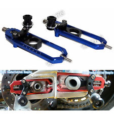 Chain Adjuster Tensioner with Swingarm Spools Blue Fit BMW HP4 S1000R S1000RR US