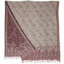 Châle pashmina wrap écharpe polaire indian blanket hippie festival marron & noir