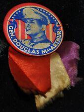 Vintage 1940's Gen Douglas MacArthur Pin w/Ribbons in Case