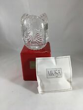 NEW Mikasa Crystal Christmas Trees Votive Candle Holder SN106 Germany