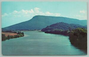 Chattanooga Tennessee~River And Lookout Mountain~Vintage Postcard