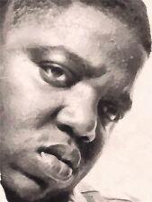 PRINT PAINTING PORTRAIT RAP LEGEND BIGGIE SMALLS CHRISTOPHER WALLACE NOFL0116