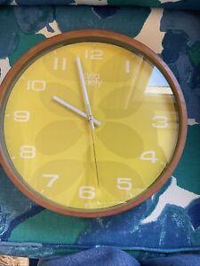 ORLA KIELY Time  Mustard Wall Clock