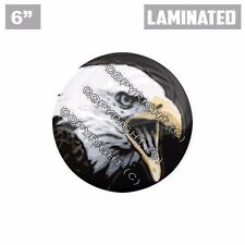 "1 Custom X LARGE Laminated Glossy 6"" 3M Premium Decal Sticker BALD EAGLE RIGHT"