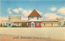 Castle Restaurant roadside Olean New York Thomas Tichnor Postcard 20-5544