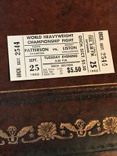 1962 Boxing Remote View Patterson vs. Liston Sept. 25 Full Ticket