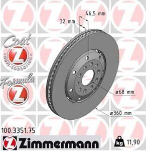 1x ZIMMERMANN Bremsscheibe FORMULA Z COAT Z Vorne links für Audi A4 Avant RS4