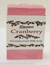 Paine's CRANBERRY Premium Goat Milk Soap 4.5 oz bar fresh Maine made all natural