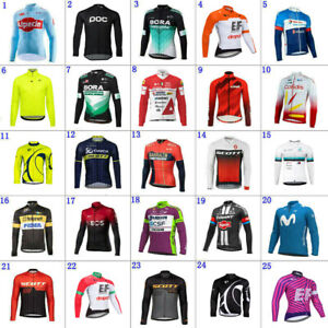 2021 Mens team Thermal Fleece cycling Long sleeve jerseys cycling jerseys