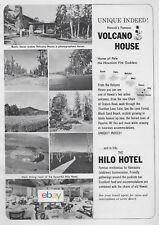 VOLCANO HOUSE HOTEL & HILO HOTEL HAWAII 1962 AD