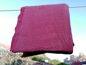 Cashmere Blanket Throw Travel Wrap Handmade NEPAL Home reddish brown herringbone