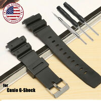 25mm Rubber Watch Band Strap Frosted + Tool For CASIO G Shock Repair Parts US