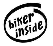 Biker Inside Vinile Adesivo / Decalcomania, Auto / Finestra / PARAURTI HONDA YAMAHA SUZUKI
