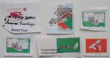 Stadspost Den Helder  - 6 Scouting Kerstpost gebruikt, op papier