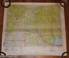 Authentic Soviet Army Military Topographic Map Baton Rouge, Louisiana, USA