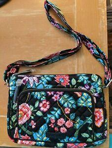 NWT $60 Vera Bradley ICONIC RFID LITTLE HIPSTER Crossbody bag ~ Vines Floral