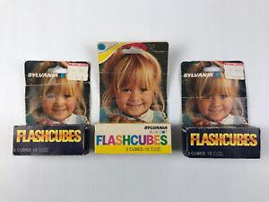 Vintage Sylvania Flashcubes X 3 Packs/9 Cubes