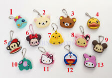 Cartoon cute rubber Key Chain Car Keychain Ring Keyfob Metal Keyrings cover case