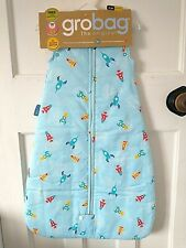 Grobag 2.5 Tog Blue Space Rockets Sleeping Bag Choose Your Size 0-6 6-18 18-36M