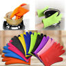 Silicone Kitchen Heat Resistant Gloves Oven Grill Pot Holder BBQ Cooking Mitts H