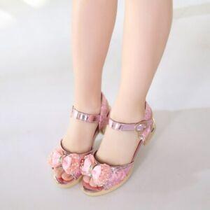 2020 Zapatos Zapatillas Sandalias Princesa Verano Para Chicas Niñas Fiesta New