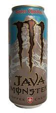 Case of 16 Monster Java Swiss Chocolate Energy Drinks 15oz