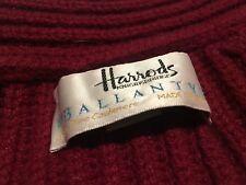 Ballantyne for Harrods thick 6-ply shawl cashmere cardigan Burgundy Medium £1500