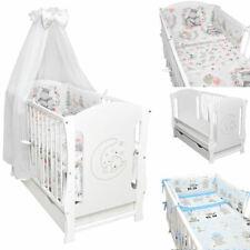 Babybett-Kinderbett-weiss-Bettset-MOND-Matratze-Schublade-120x60cm Sofa Neu