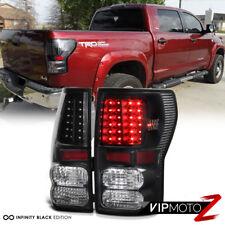 [BLACK] For 07-13 Toyota Tundra LED Rear Brake Tail Light Signal Lamp Error Free