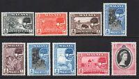 Malacca (Malaya) 9 Stamps Mounted Mint Hinged (6547)