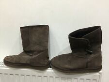 GOLDDIGGA Womens ladies Brown Suede mid length Boots Faux fur lined  UK 7  Eu 41
