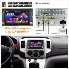 7 Colors Gps Navigation 2Din Hd Car Stereo Dvd Cd Player Fm Bluetooth Radio iPod (Fits: Dodge Intrepid)
