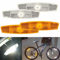2pcs Warning Lights Wheel Reflective Bike Bicycle Mountain Spoke Reflector PP