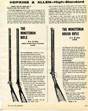 1974 Print Ad of Hopkins & Allen High Standard Minuteman Brush Rifle