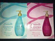 Avon Encanto Body Lotion - 2 x Irresistible + 2 x Fascinating SAMPLE SACHETS -