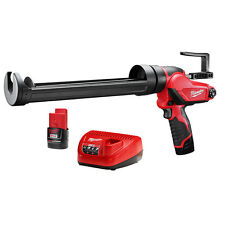 Milwaukee 2444-21 M12 12-Volt Quart Caulk And Adhesive Gun w/ Batteries