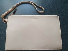 Ted Baker Nude Rose Gold Wrist Clutch Leather  Bag