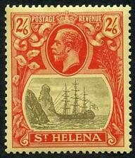 St Helena SG109 2/6 Grey and Red/yellow U/M