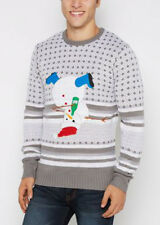 New Size Small Mens UGLY Christmas Party Hard Drunk Snowman Sweater