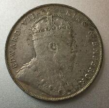1907 Straits Settlements $1 silver coin   very high grade