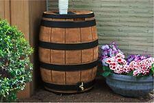 Rain Barrel 50 Gallon Spigot Vault Authentic Whiskey Barrel Darkened Ribs New