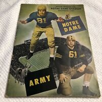 Vintage 1947 Notre Dame Stadium Official Program (Football vs Army)