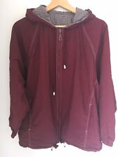 WOOLWORTHS Size Small Maroon Burgundy Red Coat Jacket <L6214